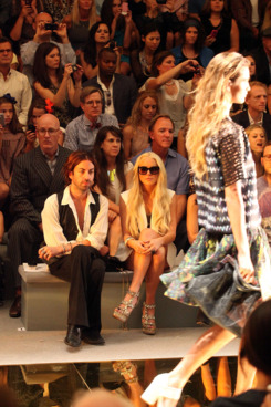 Lindsay Lohan at New York Fashion Week.