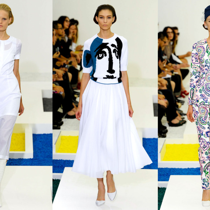Spring 2012 looks by Raf Simons for Jil Sander.