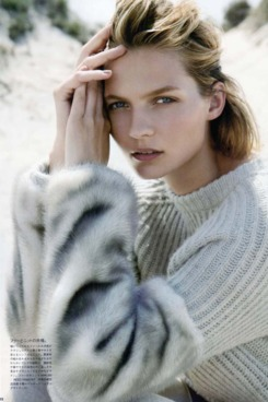 Wolter in the October 2010 issue of <em>Vogue</em> Japan.