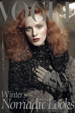 Karen Elson for Italian <em>Vogue</em>.