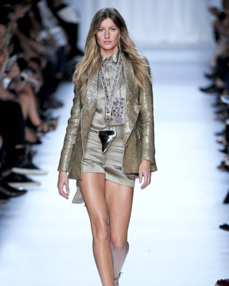 Gisele in Givenchy's spring 2012 show.