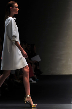 The spring 2012 Gianfranco Ferré show in Milan.