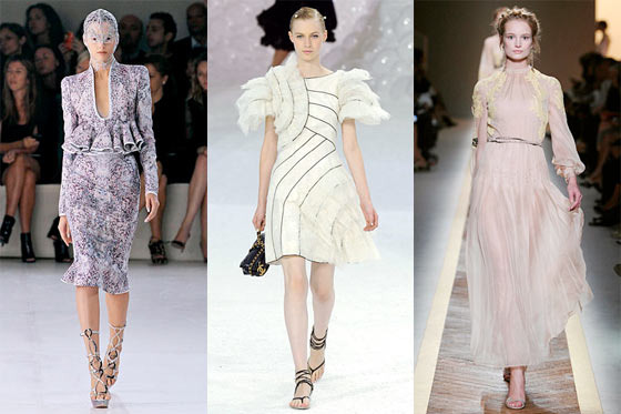 New looks from Alexander McQueen, Chanel, and Valentino.