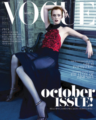 Karen Elson for Korean Vogue.