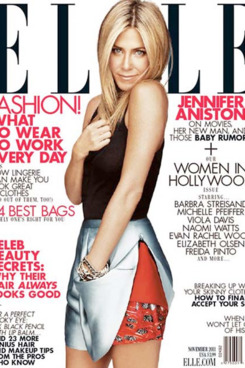 Jennifer Aniston for Elle.
