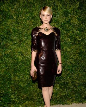 Carey Mulligan at the CFDA/Vogue Fashion Fund Awards.