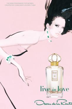 "Oscar de la Renta's celebrity-free ""Live in Love"" ad."