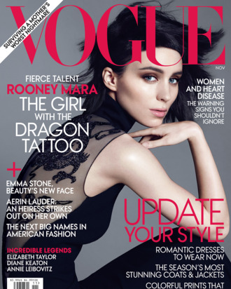 Rooney Mara's <em>Vogue</em> cover.