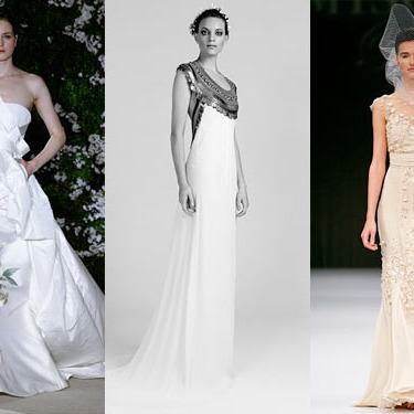 New bridal looks from Carolina Herrera, Temperley, and Badgley Mischka.