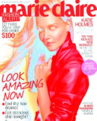 Katie Holmes for <em>Marie Claire</em>.