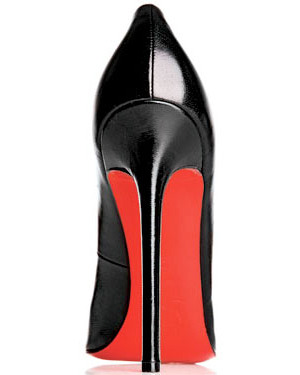 Louboutin's trademarked red sole.