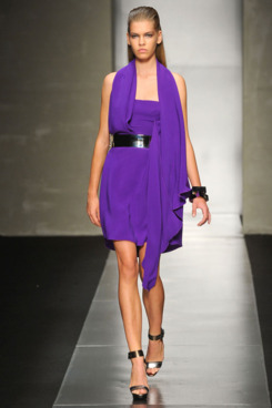 A look from Gianfranco Ferre's spring 2012 collection.