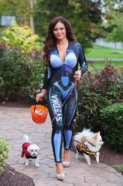 "J-WOWW's ""Halloween"" outfit."