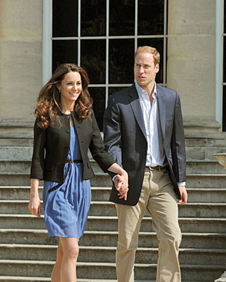 Kate in one of her many pairs of L.K. Bennetts.