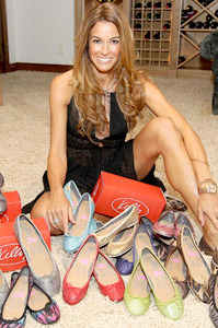 Kelly Bensimon and her new shoe line.