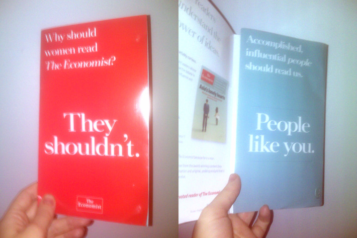 The Economist marketing flier.