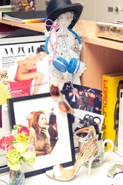 Taylor Tomasi Hill's desk; courtesy of The Coveteur