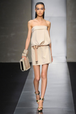 A look from Gianfranco Ferré's spring 2012 collection, Citron and Piaggi's debut.