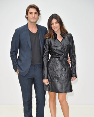 Parents-to-be Robert Konjic and Julia Restoin-Roitfeld.