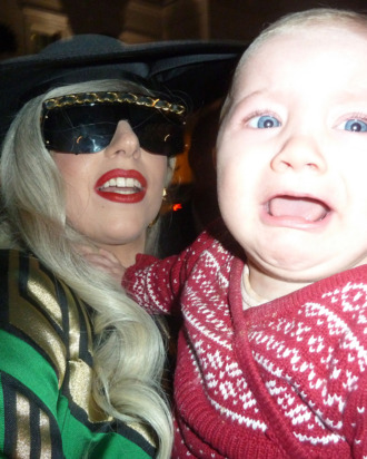 Lady Gaga holds and Kisses Baby Loissa in London after returning back to her London hotel after a days interviews at the London Television Studios. Gaga had been recording Chatty Man all day with Alan Carr. <P> Pictured: Lady Gaga and Baby Louissa <P> <B>Ref: SPL335890 161111 </B><BR/> Picture by: Splash News<BR/> </P><P> <B>Splash News and Pictures</B><BR/> Los Angeles:310-821-2666<BR/> New York:212-619-2666<BR/> London:870-934-2666<BR/> photodesk@splashnews.com<BR/> </P>