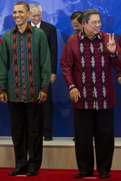 Barack Obama and Indonesian President Susilo Bambang Yudhoyono.