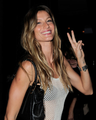 Gisele: promoting a message of global unification with just one pose.