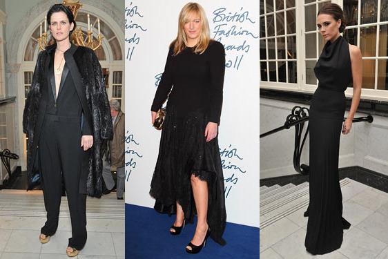 Stella Tennant; Sarah Burton; Victoria Beckham