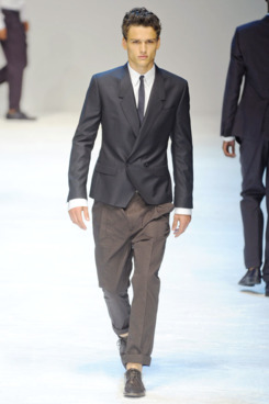 Male model Simon Nessman in Dolce & Gabbana's spring 2012 show.