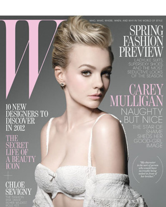 Carey Mulligan, shot for <em>W</em> by Michael Thompson.