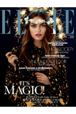 <em>Elle</em> Netherlands's December 2011 cover.