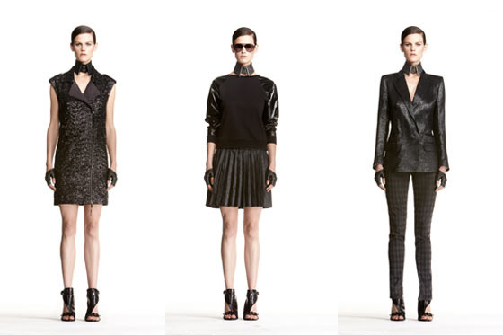 Three looks from Karl's forthcoming collection.