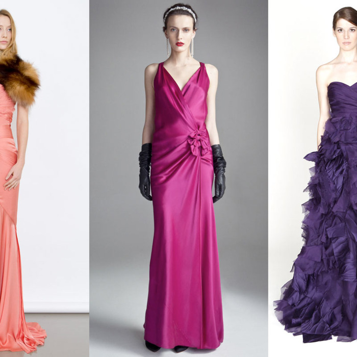 Pre-fall 2012 looks from J. Mendel. Temperley London, and Monique Lhuillier.