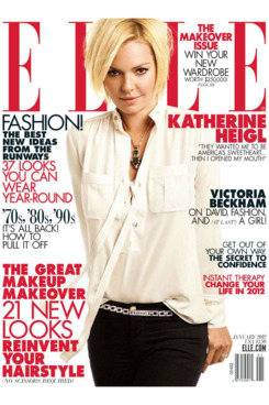 Katherine Heigl for <em>Elle</em>.