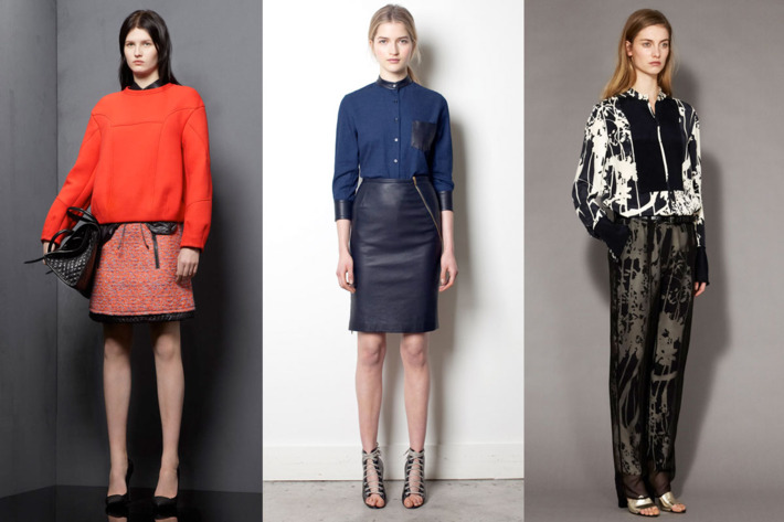 Pre-Fall looks from Proenza Schouler, Band of Outsiders, and Phillip Lim