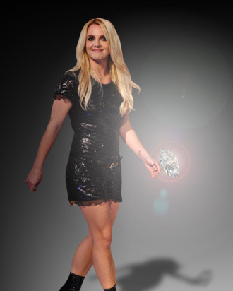 Britney's ring is likely <em>not</em> this big, but still most certainly fabulous.