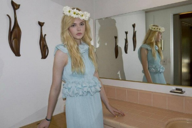 Elle Fanning in Rodarte's spring collection for <em>A</em> magazine.