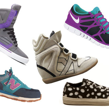 Clockwise from top left: Just Blaze! Skytop II by Supra, Willow by Isabel Marant, Free 3.0 v3 by Nike, LC2 Low Cut Sneaker by Forfex, and New Balance x Bodega 581.