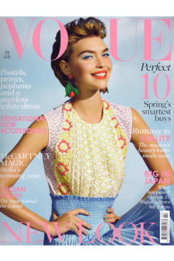 Arizona Muse; British <em>Vogue</em> February 2012.