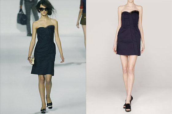 Marc by Marc Jacobs's dress (left) and Taylor Tomasi Hill's dress (right).