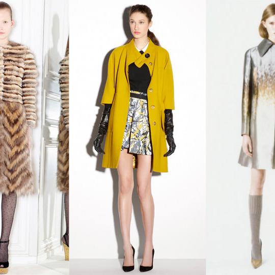 From left: new looks from Giambattista Valli, Milly, and Rochas.