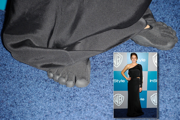 Shailene and her toes.