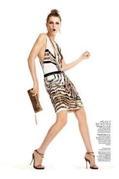 Angela Lindvall in February's <em>Marie Claire</em>.
