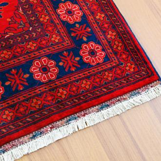 Red turkish carpet.