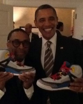 Spike Lee with President Obama.