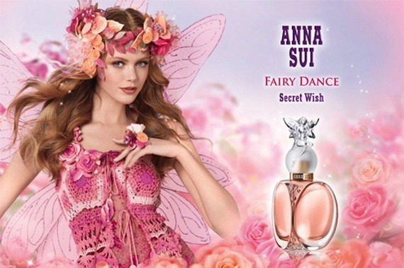 Anna Sui's newest fragrance ad.