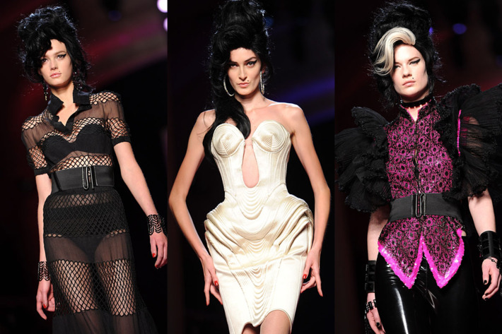 Looks from Gaultier's runway.