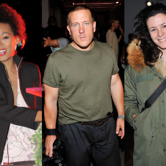 Solange Knowles, Scott Schuman, and Garance Dore.