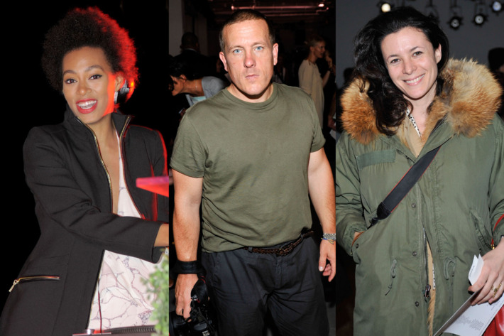 Solange Knowles, Scott Schuman, and Garance Dore.