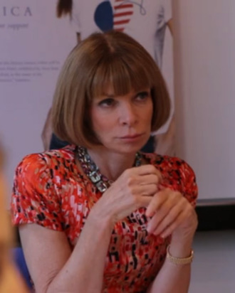 Anna Wintour at a CFDA board meeting.
