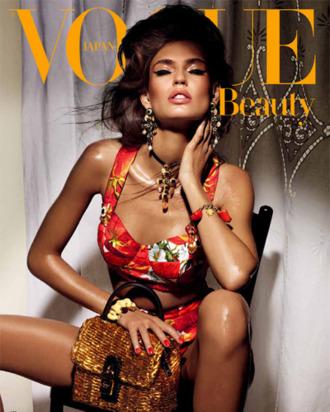 Bianca Balti for <em>Vogue Nippon</em>'s beauty issue.